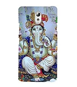 Vizagbeats Ganesh with turban Back Case Cover for Lenovo Vibe P1m