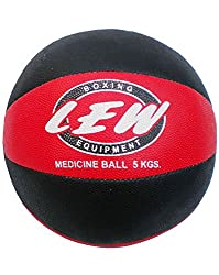 LEW Gym Rubber medicine Ball with Texured Surface for Superior grip-5kg