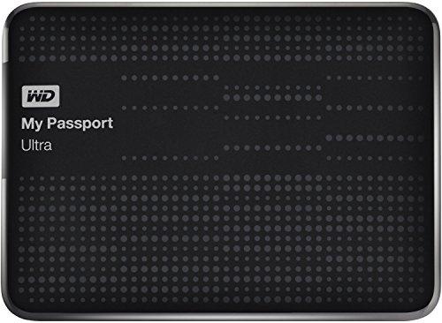 WD My Passport Ultra externe Festplatte 1,5TB (6,35 cm (2,5 Zoll), 5400rpm, 8 MB, SATA, USB 3.0) schwarz
