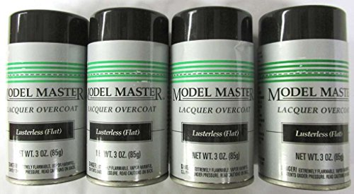 Lusterless Flat Lacquer Clear Coat Testors [4-PACK] Model Master (Model Master Lacquer compare prices)