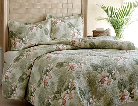 Stunning Quilts Tommy Bahama Topical Orchid Quilt Set