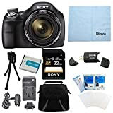 Sony Cybershot DSC-H400 B DSC-H400B DSCH400B DSCH400 H400 63x Optical Zoom 20.1MP HD Video Digital Camera Bundle with 32GB High Speed SD Card - Spare Battery - Rapid ACDC Charger - Padded Case - SD Card Reader - Mini Tripod - Digital Photo DVD Guide+ More