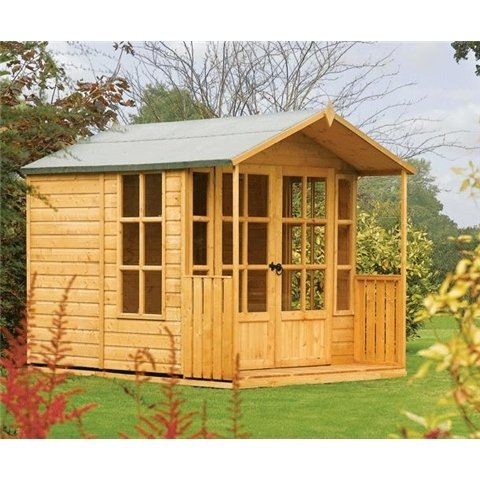 8FT x 7FT Arley Cambridge Summerhouse (12mm T&G Floor & Roof)
