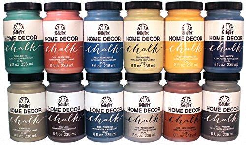 FolkArt Home Decor Chalk Paint Set (8 Ounce), PROMO877 (12-Pack) (Home Decor Chalk Paint compare prices)