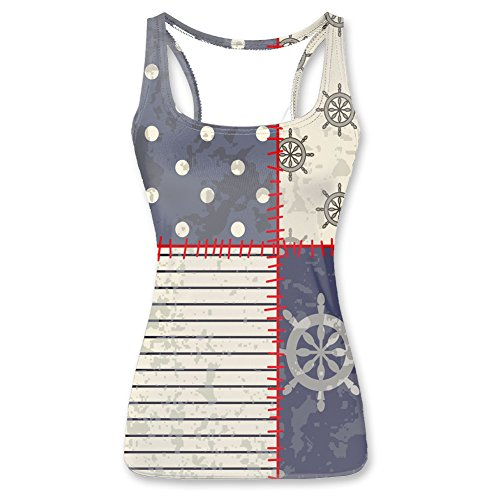 Nautical steering wheel Women's Tank tops L