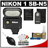 Nikon 1 SB-N5 Speedlight Flash with Nikon ML-L3 Shutter Release Remote Comtrol + Accessory Kit for 1 V1 Interchangeable Lens Digital Camera