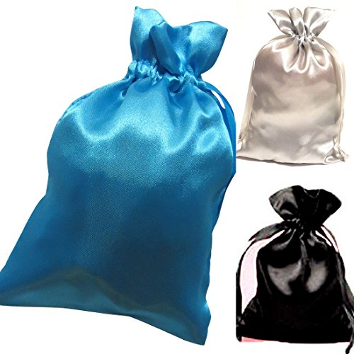 Tarot Bags Summer Nights Colors Satin Bundle of 3: Turquoise Black and Silver (6 X 9 Each) mart poom minu lugu page 9