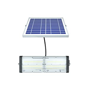 Solar LED Barn Light, 18,000mah Li-ion Battery for Outdoor/Indoor Flood Light with Remote Control, 5,000 Lumen by spc (Color: Silver, Tamaño: 5000Lumen)