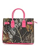 Officially Licensed Mossy Oak Camo Purse With Fuchsia Accents