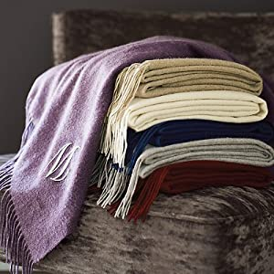 Woven Cashmere Throw - Off-White - Frontgate