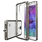 Galaxy Note 4 Case - Ringke FUSION Case [Free HD Film/Dust Cap&Drop Protection][SMOKE BLACK] Shock Absorption Bumper Premium Hybrid Hard Case for Samsung Galaxy Note 4 - Eco/DIY Package