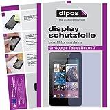 Dipos Crystalclear Displayschutzfolie für Google Nexus 7 Tablet