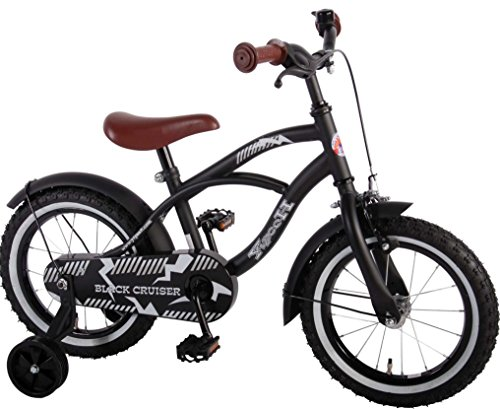 14-Zoll-Fahrrad-Qualitts-Kinderfahrrad-mit-Sttzrder-bike-Black-Cruiser-schwarz-matt-inkl-LED-Licht-41401