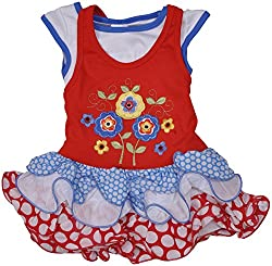 Be BeBo Girl's Cotton Dress (896_3, Red, 3 Year )