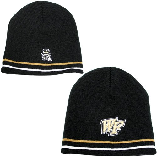 low priced 838cc 13b91 ... new zealand top of the world wake forest demon deacons black double  diamond knit beanie 01c76