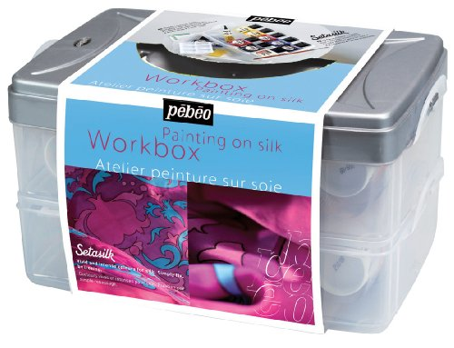 Pebeo Setasilk Silk Painting Atelier Collection Set, 10 Assorted 45-Milliliter Colors and Accessories (Silk Paints compare prices)