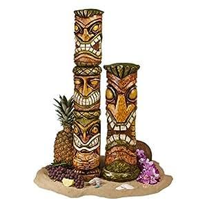 Design Toscano Aloha Hawaii Tiki Sculpture: Set of two