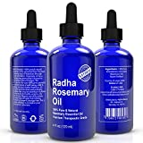Rosemary Essential Oil - Big 4 Oz - 100% Pure & Natural Therapeutic Grade - Premium Quality - Great for Hair Strengthening and Dandruff as well Aches & Pains