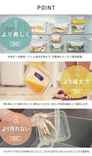 耐熱ガラス容器 ガラスロックバリア ・小(400ml/スクエア)