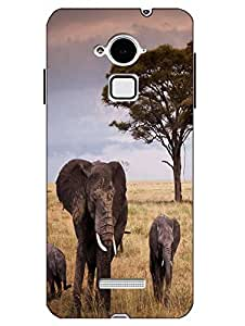 Case Cover Elephant Printed Multicolor Hard Back Cover For CoolPad Note 3