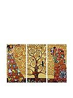 Arte Dal Mondo Set Pintura al Óleo sobre Lienzo 3 Uds. Klimt L'Albero Delle Vita
