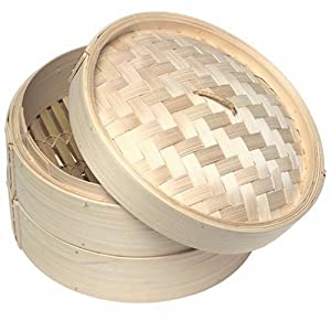10 inch Bamboo Steamer (Set - 2 racks and 1 lid) by CHINA MADE