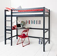 Cabin Bed High Sleeper with Desk in NAVY BLUE , Bunk Bed - HIGH Sleeper B