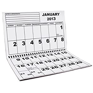 Jumbo Large Print Low Vision Wall Calendar - 2013