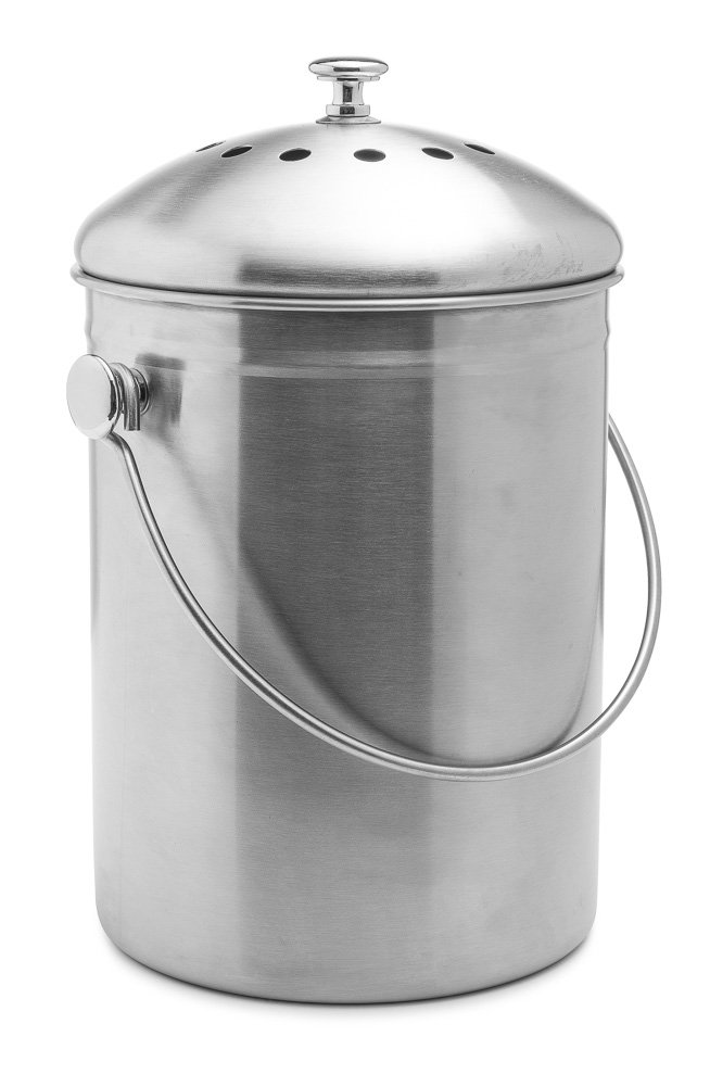 Epica Stainless Steel Indoor Compost Bin 1 Gallon