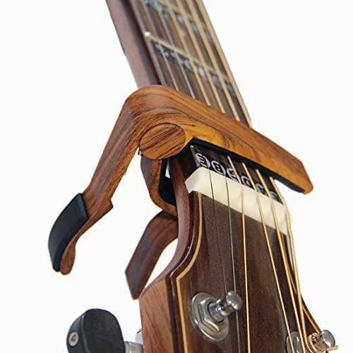 6-String Acoustic & Electric Guitar Capo- Single Handed Quick Change Capo (MA-12-D)