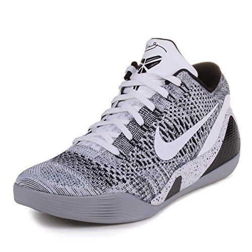promo code d5678 e082d Nike Mens Kobe IX Elite Low Beethoven White Black-Wolf Grey Synthetic Size