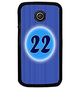 PrintDhaba Numerology Number 22 D-2580 Back Case Cover for MOTOROLA MOTO E (Multi-Coloured)