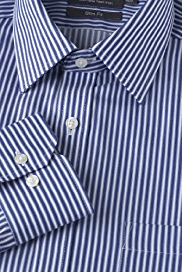 2in Longer Performance Pure Cotton Non-Iron Slim Fit Bold Striped Shirt