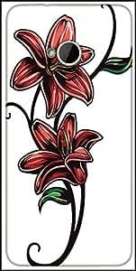 Snoogg Floral Vector Element Designer Protective Back Case Cover For HTC M7