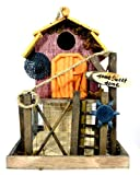 Home Sweet Home Beautiful Chic Garden Bird House with Feeder Box