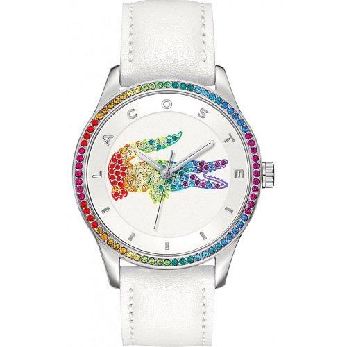 Lacoste Damen-Armbanduhr Analog Quarz Leder 2000822