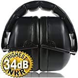 Safety Ear Muffs 34dB Highest NRR, Shooters Hearing Protection. Professional Folding-Padded Head Band, Certified S3.19 & EN352. Adjustable to Fit All Sizes, Comfortable Soft Foam Ear Cups. Your Satisfaction is Guaranteed. Add to Cart Now!