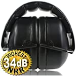Safety Ear Muffs 34dB Highest NRR, Sh...