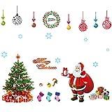 (エリムーンズ)Elimoons 感謝祭! クリスマス雰囲気が漂う ウォールステッカ サンタクロース+クリスマスツリー