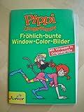 Window-Color-Vorlage: Pippi Langstrumpf. (Fröhlich-bunte Window-Color-Bilder. Mit Vorlagen in Originalgröße und CD-ROM mit weiteren Motiven.)