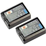 DSTE 2pcs NP-FW50 Rechargeable Li-ion Battery for Sony Alpha NEX-3, NEX-3N, NEX-5, NEX-5R, NEX-5N, NEX-6, NEX-7, NEX-C3, NEX-F3, SLT-A33, SLT-A35, SLT-A37, SLT-A55V