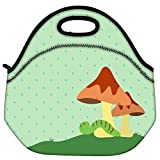 Snoogg Abstract Rainy Season Background With Water Drops Travel Outdoor Carry Lunch Bag Picnic Tote Box Container...