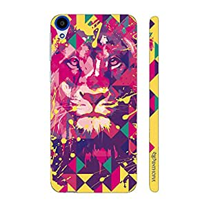Enthopia Designer Hardshell Case Lion Art Yellow Back Cover for HTC Desire 820