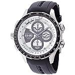 Hamilton X-Wind Khaki Automatic Chronograph Silver Dial Black Rubber Mens Watch H77726351