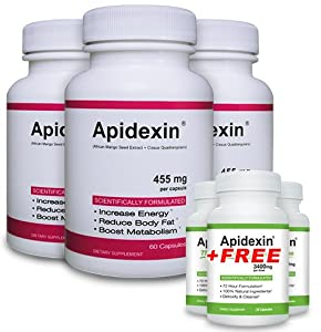 Apidexin 3 Pack And 3 Free Apidexin 72hc - Best Diet Pills 2013 - Best Appetite Suppressant That Works Fast - 2013s Top Rated Fat Burner Pills from Apidexin