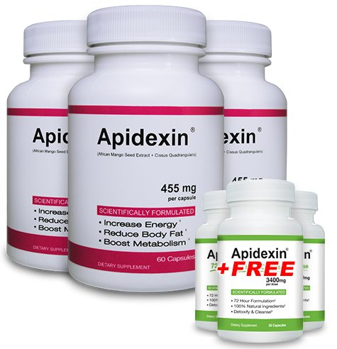 Apidexin 3 Pack and 3 Free Apidexin 72HC - Best Diet Pills 2013 - Best Appetite Suppressant That Works Fast - 2013's Top Rated Fat Burner Pills