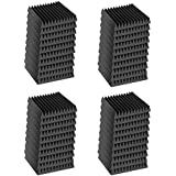 "Mybecca 48 Pack 12"" X 12"" X 1"" Acoustic Wedge Studio Sound Proofing Foam Wall Tiles (48 Square Feet) Made in USA"