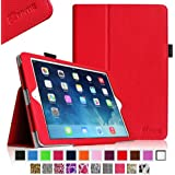 Fintie Apple iPad Air Folio Case - Slim Fit Leather Smart Cover with Auto Sleep / Wake Feature for iPad Air 5 (5th Generation) - Red