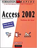 Access 2002 : Notions de base