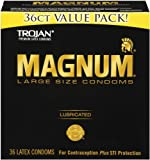 Trojan Condom Magnum Lubricated, 36 Count